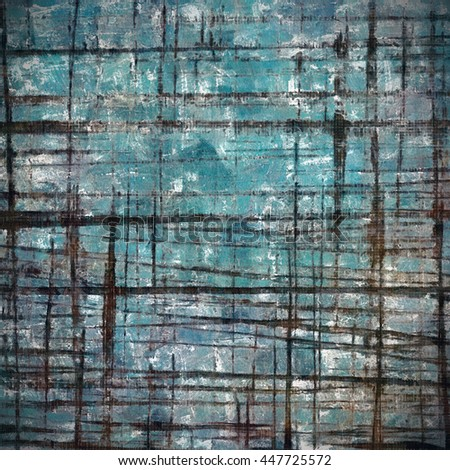 Vintage background in scrap-booking style, faded grunge texture with different color patterns: brown; blue; black; cyan; white - stock photo