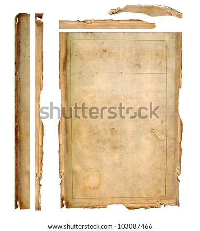 vintage background - old paper texture - stock photo