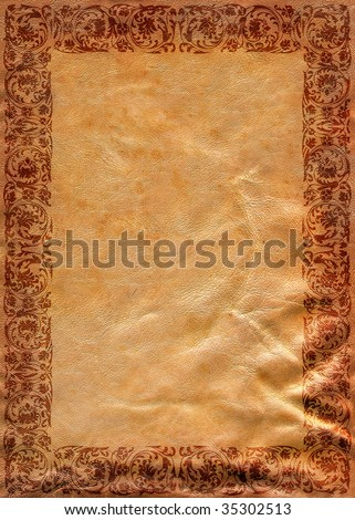 Vintage background on leather texture