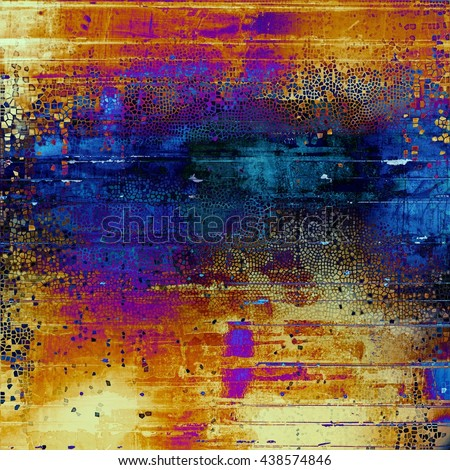 Vintage background texture, antique style composition for your design. With different color patterns: yellow (beige); brown; blue; red (orange); purple (violet); pink - stock photo
