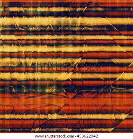 Vintage background with dirty grungy texture or overlay and different color patterns: yellow (beige); brown; black; blue; red (orange) - stock photo