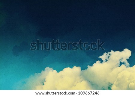 Vintage background with fantasy clouds