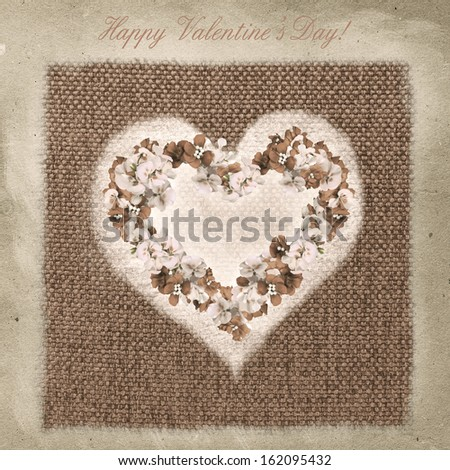 Vintage background with flowers for congratulations and invitations  - stock photo