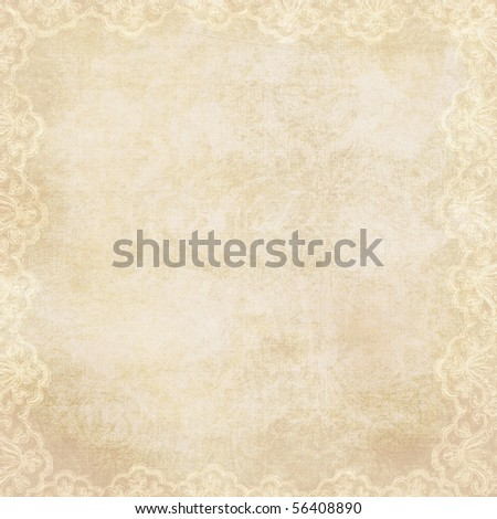 vintage background with lacy border - stock photo