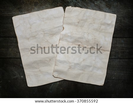 Vintage background with old paper sheets - stock photo
