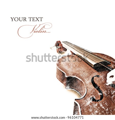 Vintage background with old violin