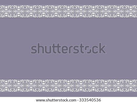 vintage background with ornaments on the edges - stock photo