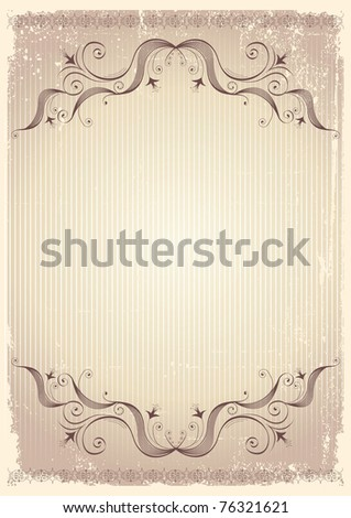 vintage background with vignettes.Abstract paper for text - stock photo