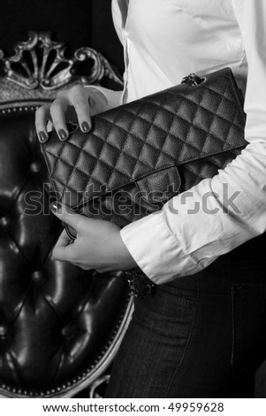 vintage bag - stock photo
