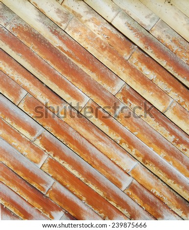 Vintage Bamboo wall as texture or background - stock photo