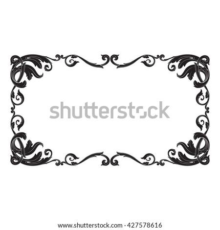 Vintage baroque ornament. Retro pattern antique style acanthus. Decorative design element filigree calligraphy - stock photo