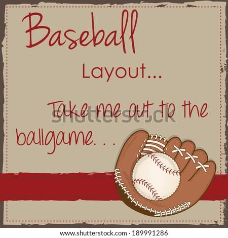 Vintage baseball myspace layout