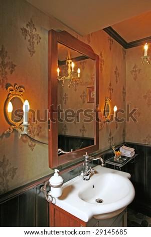 vintage bath room - stock photo