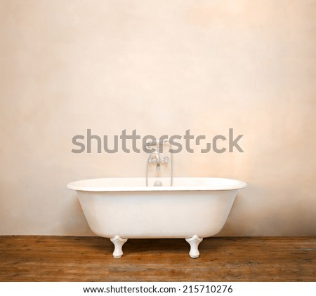 Vintage bathtub - stock photo