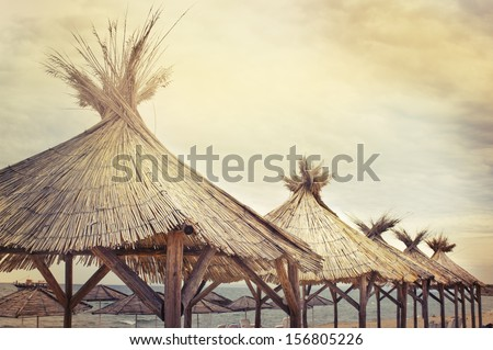 Vintage beach background/ - stock photo