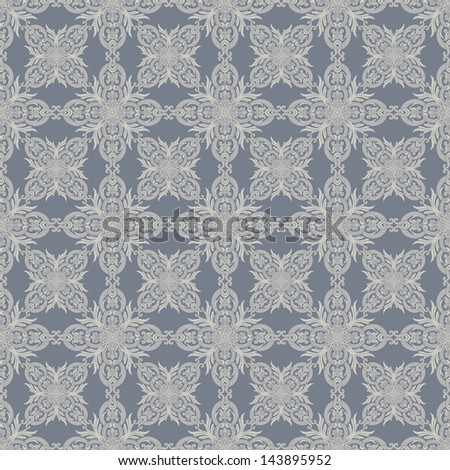 Vintage beautiful background, floral, damask ornament, fashion, rich seamless pattern, luxury vector wallpaper, old style fashioned arabesque fabric for decoration and design - stock photo