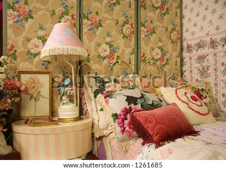Vintage Bedroom - stock photo