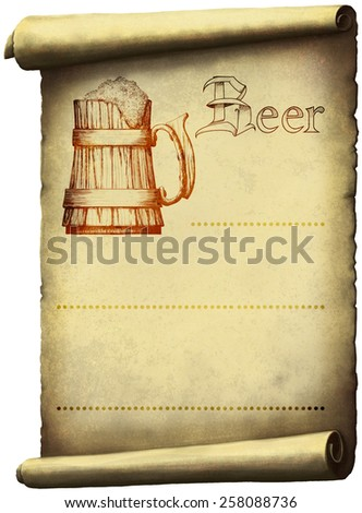 Vintage beer label on grungy backgrounds of labeled and pattern - stock photo