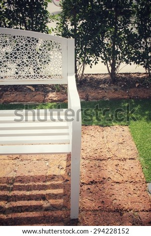 Vintage bench  - stock photo