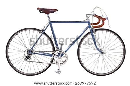 vintage bikes Dark blue - stock photo