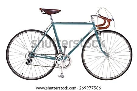 vintage bikes Light blue - stock photo