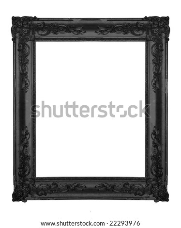 Vintage black ornate frame, similar available in my portfolio - stock photo