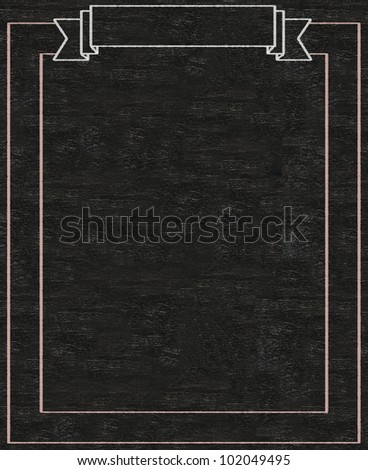 Vintage Blank Banner Written On Blackboard Background High Resolution Easy To Use