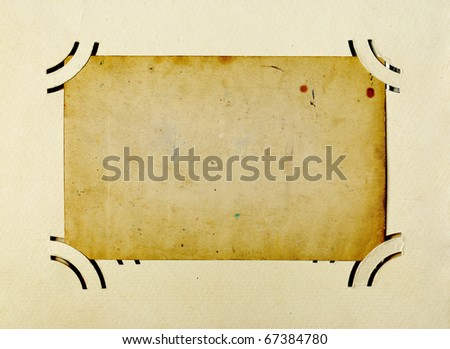 Vintage blank photo album page - stock photo