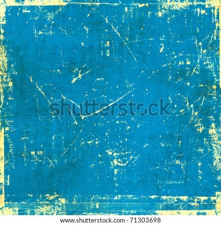 Vintage blue background - stock photo
