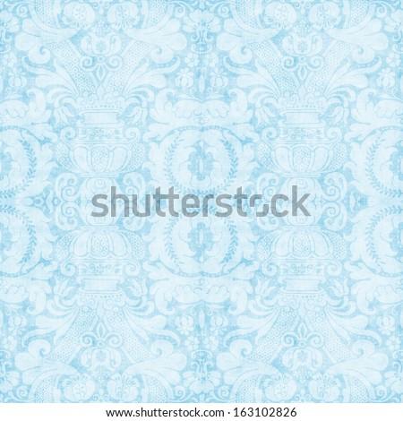 Vintage Blue Tapestry Pattern - stock photo