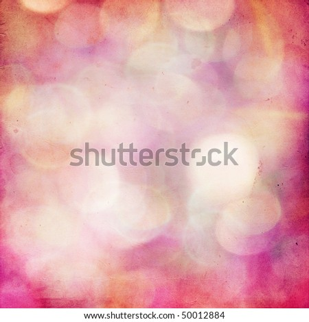 vintage blurred lights bokeh effect with grunge texture - stock photo