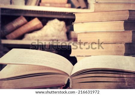 Vintage book - stock photo
