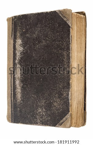vintage book isolated on white - stock photo