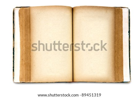 Vintage book isolated on white