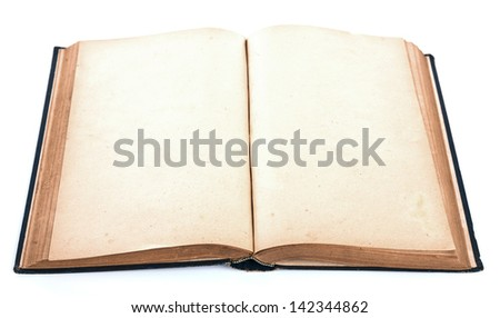 Vintage book isolated on white background