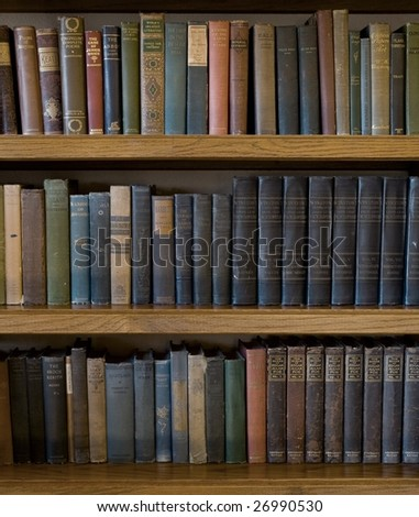 Vintage Bookcase - stock photo