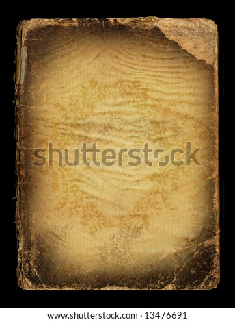 vintage bookcover - stock photo