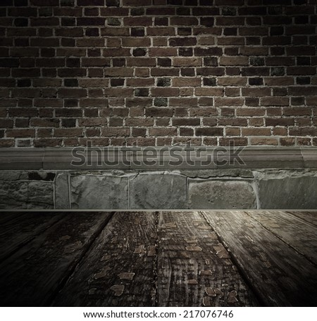 Vintage brickwall, textured background - stock photo