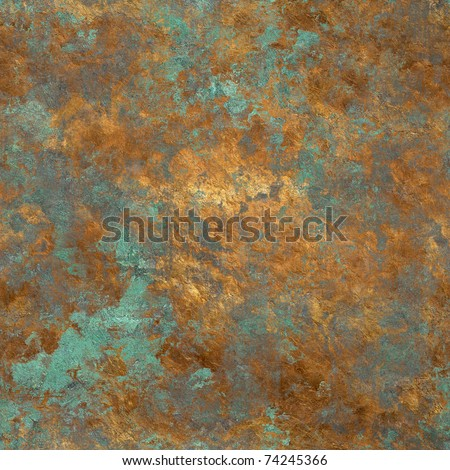 vintage bronze seamless background - stock photo