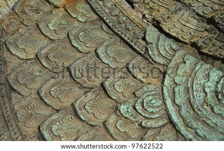 Vintage bronze texture - stock photo
