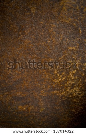 Vintage brown  leather texture closeup . - stock photo