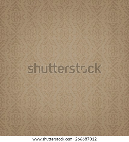 Vintage Brown Seamless Pattern  - stock photo