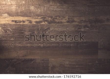 Vintage brown wood - stock photo
