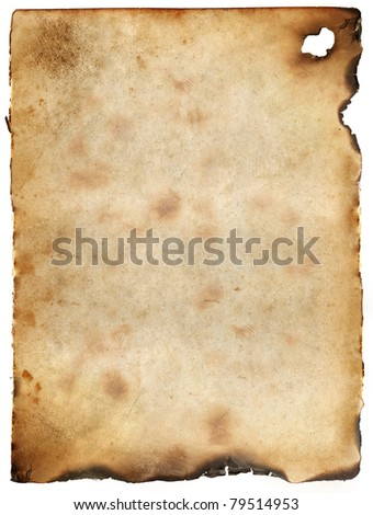 Vintage burnt paper background - stock photo