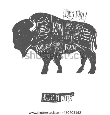 meat cuts diagrams butcher shop scheme stock vector. Black Bedroom Furniture Sets. Home Design Ideas