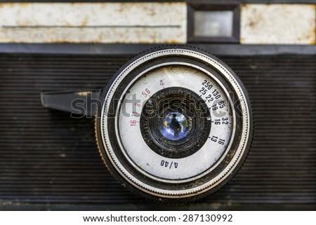 Vintage camera - stock photo