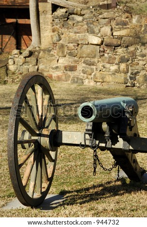 Vintage Cannon at the American Civil War Center Richmond Virginia - stock photo