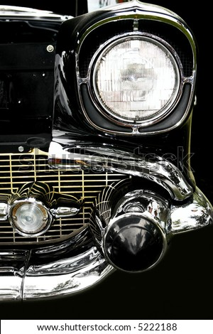 Vintage car. Close-up - stock photo