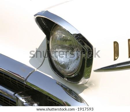 Vintage Car Headlamp - stock photo