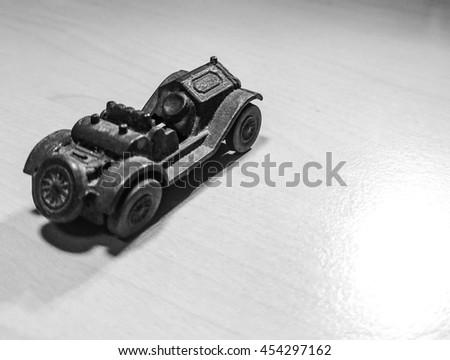 vintage car metal - stock photo